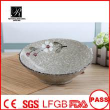 Tigelas de cerâmica de cerâmica, novo design tigela de salada de cerâmica, fruteira de cerâmica