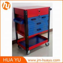 Piezas de automóvil de cajón 26 pulgadas profesional 6 Rolling gabinete de herramienta (azul y rojo)