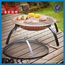 Hot Selling Portable Foldable Outdoor Fire Pit with Cooper Color (SP-FT001)