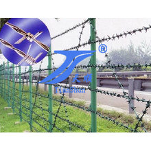 Galvanized Barbed Wire Mesh Fence