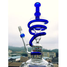 Spiral Recycle Glass Water Pipe Handblown Glass Water Pipe