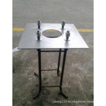 Base de instalación de lámpara galvanizada en caliente DIP para uso en edificios