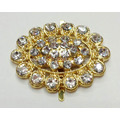 Ellipse Shapes Rhinestone Shoe Clips