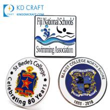 Wholesale custom-made metal soft hard enamel uniform badge plain shield star logo college university lapel pin for souvenir