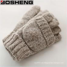 Guantes de punto con la cubierta de la manopla, gruesos guantes sin dedos
