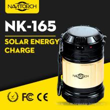 Doppelladen Leuchtende Solar Camping Laterne (NK-165)