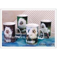 10oz Dog-designing Ceramic Coffee Mug for drinking