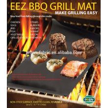 OEM disponible Black 0.20mm BBQ Grill Mat avec taille personnalisée