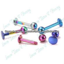 Labret Bars titanio plateado Labret anillo Ball labio Piercing Piercing de la manera joyería 316l acero quirúrgico