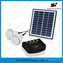 Système d'éclairage d'énergie solaire de Rechargeble avec 2 ampoules et chargeur de téléphone portable pour intérieur ou extérieur