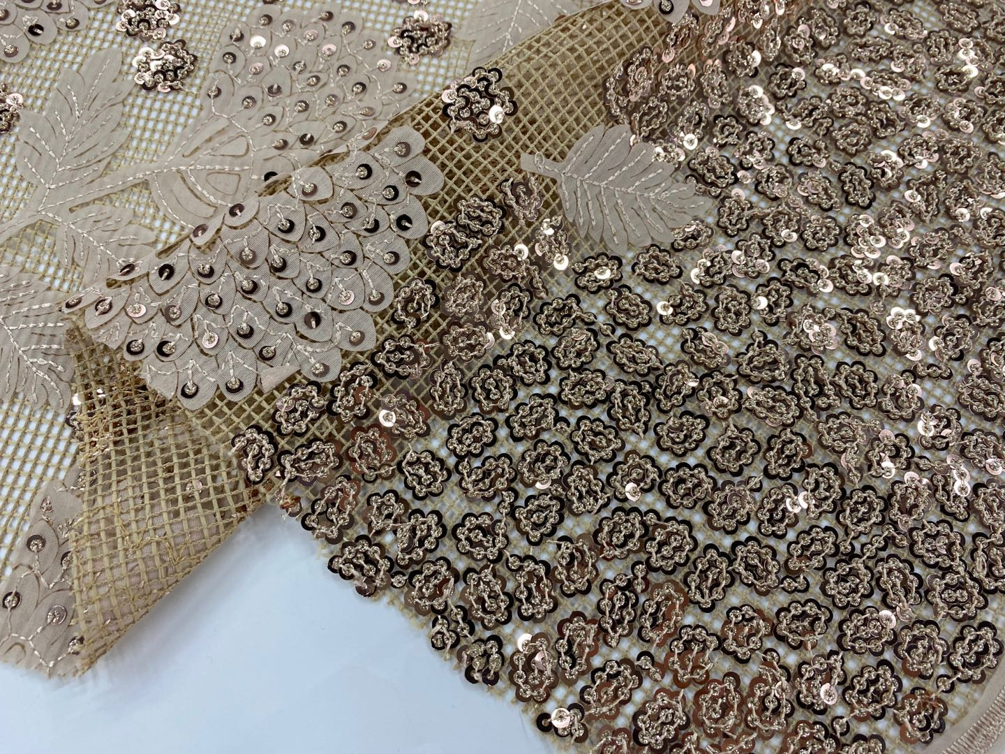 Glitter Embroidery Fabric