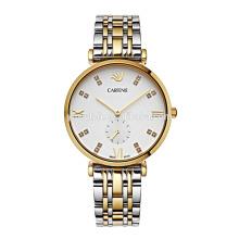 Reloj exclusivo de los hombres de lujo del cuarzo del movimiento de Japón para la marca modificada para requisitos particulares