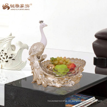 Custom Pfau Obst Schüssel Hotel zu Hause dekorative luxuriöse trocken Obst Tablett