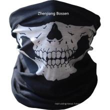 Customized Design Skull Printed Black Sports Multifunctional Buff Headwear