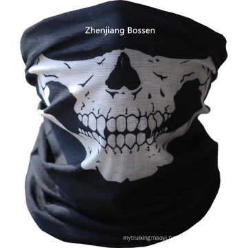 Customized Design Skull Printed Black Sports Multifunctional Buff Headwear