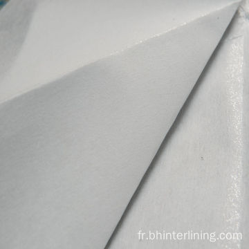 Tissu d'interfaçage fusible non tissé à points de dispersion
