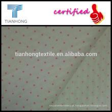 ponto-de-rosa ou roxo impresso no estilo do jacquard algodão 40 * 40 tecido de alta qualidade de tecido para o vestido de camisa