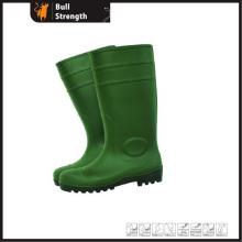 PVC Rain Boots Green with Steel Toecap (Sn1217)