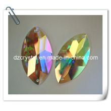 Glasbekleidung Steinperle mit Kristallab Farbe