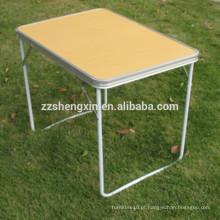 Mesa de jardim dobrável de madeira metálica