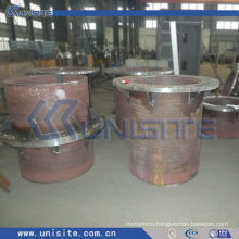thick steel wear resistant tube with flanges (USC-7-005)