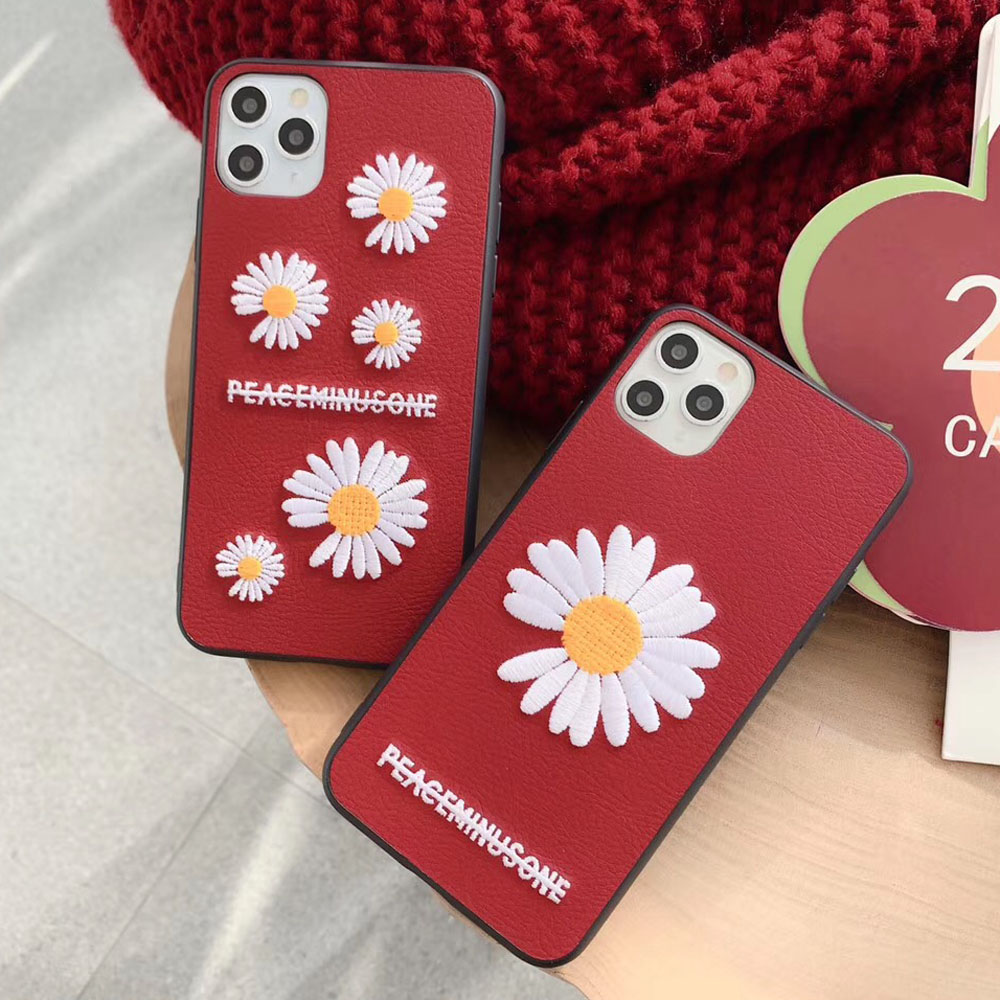 Flower Embroidery Phone Case