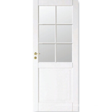 Home Design Stile and Rail White Composite Door with Glass