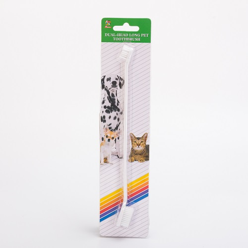 Dual head pet toothbrush
