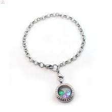 2018 Гравированный медальон с плавающей стекла памяти кулон цепочка браслет браслет ювелирных изделий