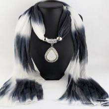 Fashion Women's Elegant Charm Tassels Rhinestone Decorated wholesaler jewelry with jewelry scarf pendant scarf jewelry scarf