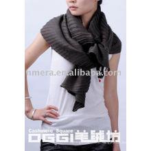 latest design wrinkle waves 100% cashmere scarf