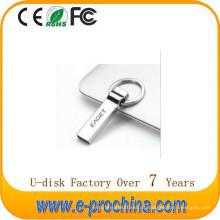 Movimentação quente da prata USB 2.0 da prata do metal da venda para a promoção