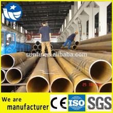 Spécifications de tube à structure ronde SS400 soudées par ERW