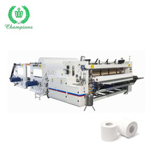 Small Toilet Paper Converting Making Machine Production Line