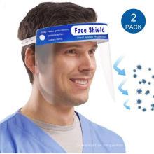 Pantalla facial protectora con visera de cubierta completa de PET