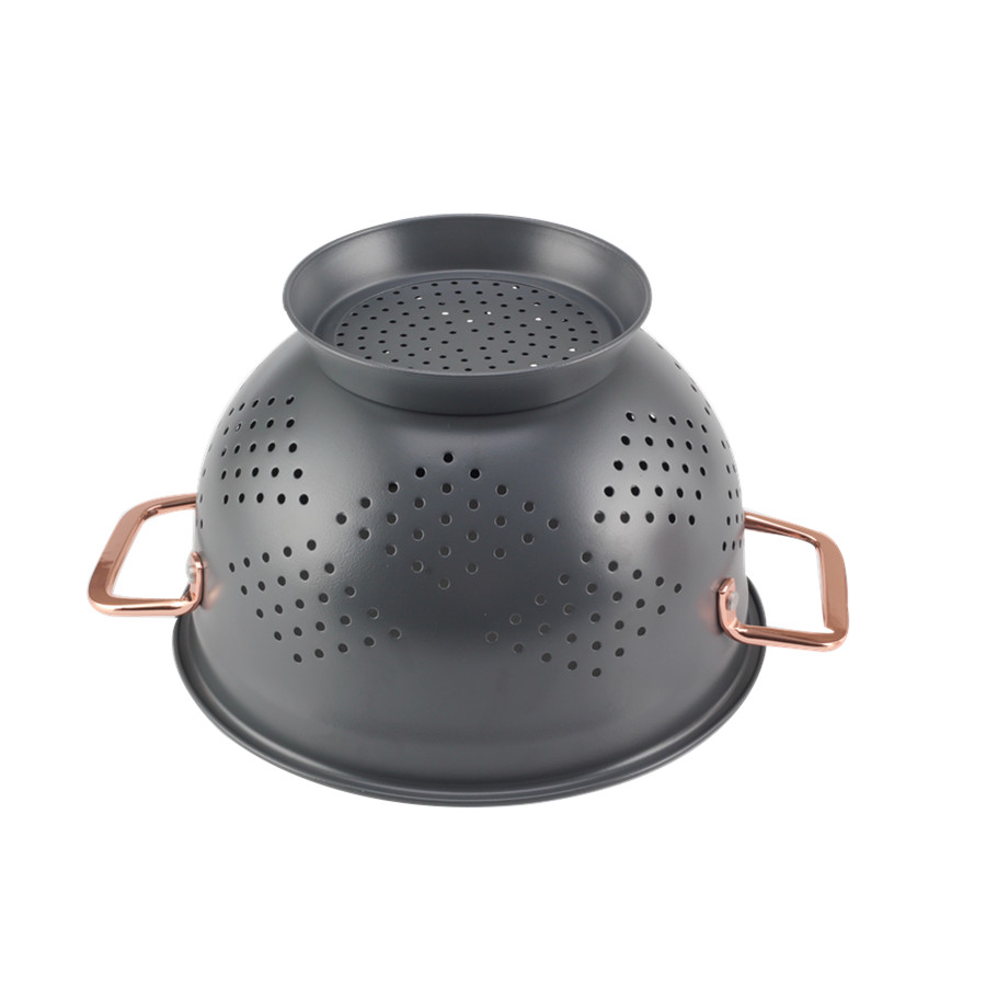 Matte Black Colander For Vegetables