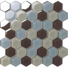Farbe gemischt Hexagon Crystal Glasmosaik