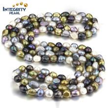 AA 10mm couleur mixte collier baroque en eau douce costume bijoux collier perle