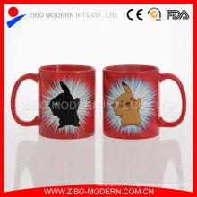 Vente en gros Tasse en céramique personnalisée en couleurs / Tasse magique vierge pour sublimation