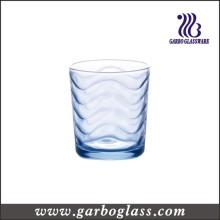 Coupe d'eau en verre ondulé bleue (GB02B7307B)