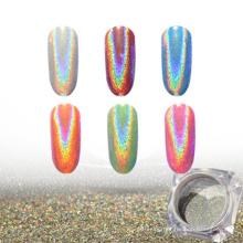 holographisches Pigment, holographisches Glitzernagelpulver mit Regenbogenfarbe