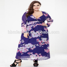 New ladies plus size dress Women latest formal dress patterns maxi dress
