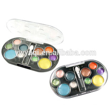 Eyeshadow containers with 10 colors round plattes used for eye