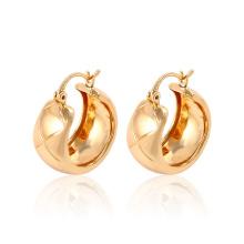 Mode Simple Ventes Chaudes 18k Or-Plaqué Imitation Bijoux Boucle D'oreille Huggies pour les Femmes -91155