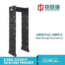 Portão de detector de metal portátil ao ar livre com controle remoto do telefone