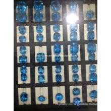 Piedra preciosa topacio azul Suiza para creación de joyería