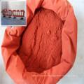 Pigmento de acabamento fosco amarelo ou vermelho óxido de ferro em batons