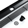 Black shower linear floor drain bathroom balcony drains
