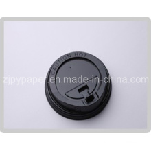 Black Styrene Travel Lid Hot Drinking Coffee Cup Lid