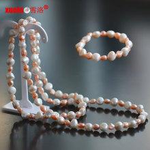 Набор ювелирных изделий браслета ожерелья перлы естественного пресноводного перлы барокко